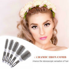Round Barrel Hair Brush Ceramic &Ionic Thermal Brush Fast Curling Drying Styling