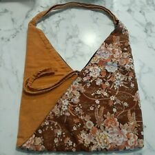 Floral Canvas Shoulder Tote Bag Small Excellent Condition
