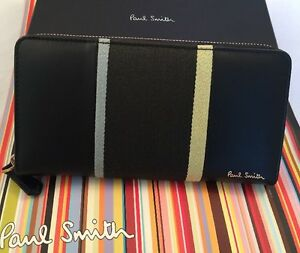 Paul Smith Women Purse Large Zip Around Mahar Box Made In Spain RRP£235 Black