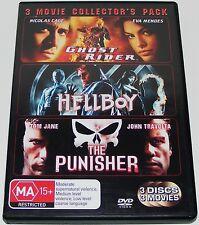 GHOST RIDER / HELLBOY / THE PUNISHER---( Dvd 3 Disc Set)