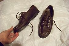 womens eastland dark brown leather boat dock deck shoes size 7