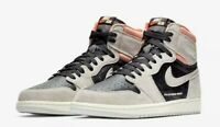 DS Nike Air Jordan 1 Retro High OG Neutral Grey Crimson Shoes 555088-018 Sz 13