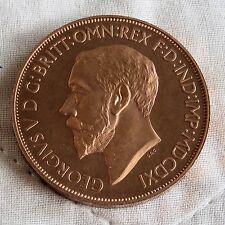 1911 MDCDXI GEORGE V COPPER PROOF PATTERN GEORGE AND THE DRAGON CROWN