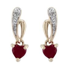 Ruby Yellow Gold Fine Earrings