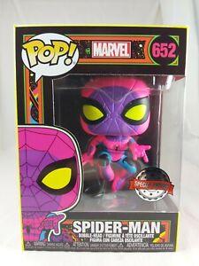 Marvel Funko Pop - Spider-Man (Black Light) - No. 652