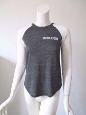 New Alternative Earth Baseball Eco Black Jersey Raglan T-Shirt Top XS