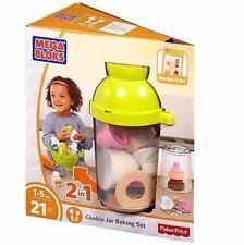 Mega Bloks Cookie Jar Baking Set Fisher Price Âge 1-5 ans 21 PIECES NEUF!