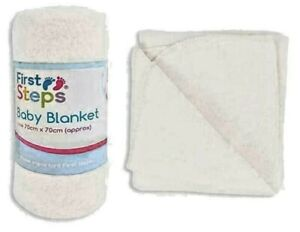 First Step Baby Blankets Cream Size 70cm x 70cm Approx. - Baby Care New UK
