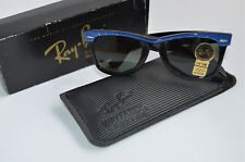 Vintage Original Ray Ban B&L USA Wayfarer Electric Blue mit Originalkarton, neu!