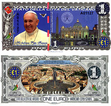 VATICAN CITY 1 Euro Fun-Fantasy Note 2016 SPECIMEN Polymer Issue - Pope Francis