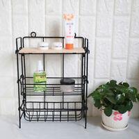 3-layer Floor Shelf Kitchen Bathroom Condiment Spice Rack Storage Organizer US