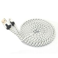 3 m plat blanc PS4/Xbox One Contrôleur Micro USB Play & Charge Charging Lead
