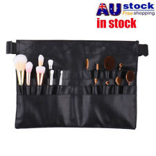 28 Pockets PU Pro Makeup Cosmetic Brush Apron w/ Artist Belt Strap Bag Black AU