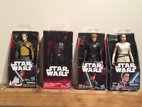 "Star Wars Disney Hasbro Basic 6"" Figure Lot 4 Kanan Jarrus Darth Vader Luke Rey"