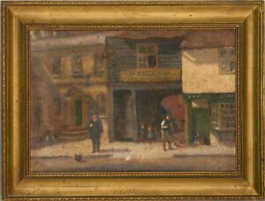 John Miller Winch (1857–1834) - 1915 Oil, Colchester Street Scene