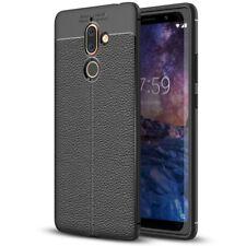 Nokia 7 Plus Leder Look Handy Hülle von NALIA Silikon Cover Case Schutz Slim
