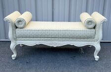 Ethan Allen Country French Upholstered Bedside Window Bench w/ Two Pillows