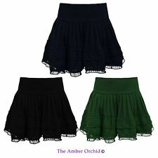Polyester Patternless Skirts (2-16 Years) for Girls