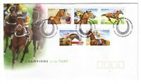 "2002 FDC Australia. Champions of the Turf. PictPMK ""CAULFIELD"""