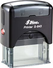 Shiny Printer S-843 Custom 4 Line Text / Address Office Self-ink Rubber Stamp
