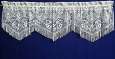 Lace Valance 3 in 1 White Chantilly Kitchen Dining Room Livingroom Bedroom