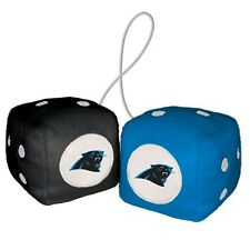 CAROLINA PANTHERS PLUSH FUZZY DICE CAR AUTO MIRROR NFL FOOTBALL