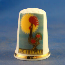 Birchcroft China Thimble -- Travel Poster Series - Portugal - Free Dome Gift Box
