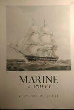 MARINE À VOILES-OLIVIER WARNER-1958-1961-GRAVURES COULEURS-LIVRE NUMÉROTÉ 52