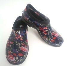 Sloggers Waterproof Fresh Cut Comfort Garden Shoe, Floral Navy, Size 7