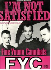 """Fine Young Cannibals """"I'M Not Satisfied"""" Sheet Music-Piano/V/Guitar/Chor ds-New!"""