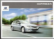 Subaru Impreza 2010-11 UK Market Sales Brochure 1.5 2.0 2.0D RC RX