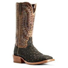 Ariat мужские циркач мокко Full Quill Ostrich Boots 10029613