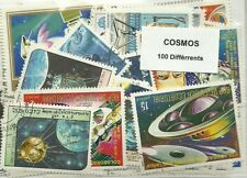 "Lot 100 timbres thematique "" Cosmos """