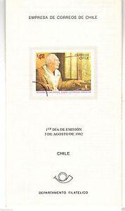 Chile 1982 Brochure Asamblea Mundial sobre el envejecimiento