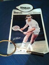 Vintage  John Mcenroe  display set, Wilson poster and Racket 1978