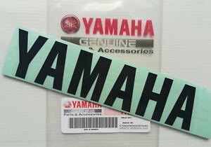 ORIGINAL Yamaha-18cm-Schriftzug-Verkleidung-SCHWARZ-Aufkleber-Sticker-180mm