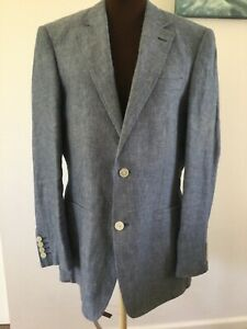 "Austi Reed Blue, linen 2 button 38"" chest Blazer style jacket"