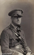 WW1 Officer serving with the Volunteer Force & wearing General Service cap badge