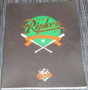 1995 CAL RIPKEN JR OFFICIAL MLB BALTIMORE ORIOLES COMMEMORATIVE MAGAZINE - NEW!!