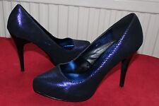 Blue metallic platform high heels size 8