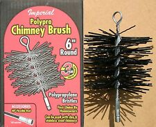"6"" Round Poly Chimney Brush - Imperial Made in Canada - New in Box"