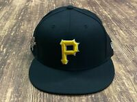 Pittsburgh Pirates Black with Bucco Pin Logo Baseball Hat - New Era Size 7 1/4