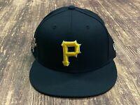 Pittsburgh Pirates Black with Bucco Pin Logo Baseball Hat - New Era Size 7 1/4