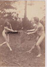 vintage nudiste naturiste art photo extérieur albumine1900 digne de Riebicke fkk