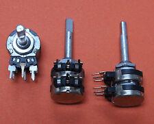 2 Stk. STEREO POTI - 2x100K LIN - Achse 4mm x 23mm - 2pcs.
