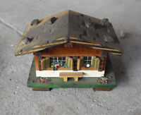 Small Vintage Switzerland Made Wood Cottage Ring Box Look