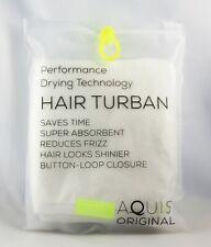 Aquis Original Hair Turban Quick Drying Technology w/ Button Closure 10 x 27 in