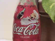 2003 Christmas - Santa plastic overwraped coke bottle
