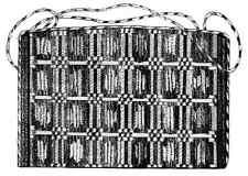 Victorian 1856 Purse Civil War Workbag Pattern New Accessory White Paper