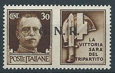 1944 RSI PROPAGANDA DI GUERRA 30 CENT BRESCIA MNH ** - RR13730-2